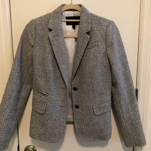 Banana Republic blazer. Gray tweed. Size 2